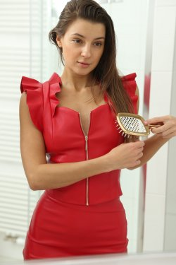Malena A - Malena Sexy In Red With Toys