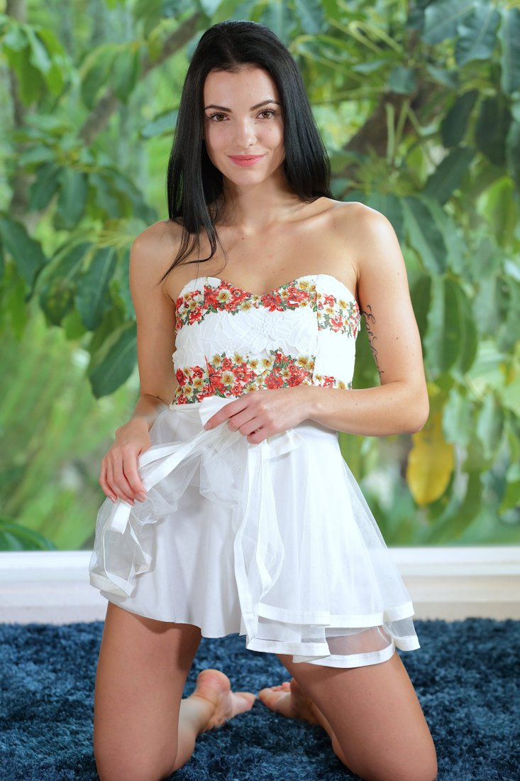 TeenDreams - Sapphira A - Sexy White Sheer Dress And Red